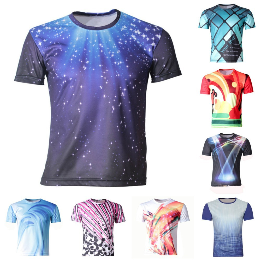Girl boys clothes new 2015 summer boy t shirts children 3d for Shirts to print on