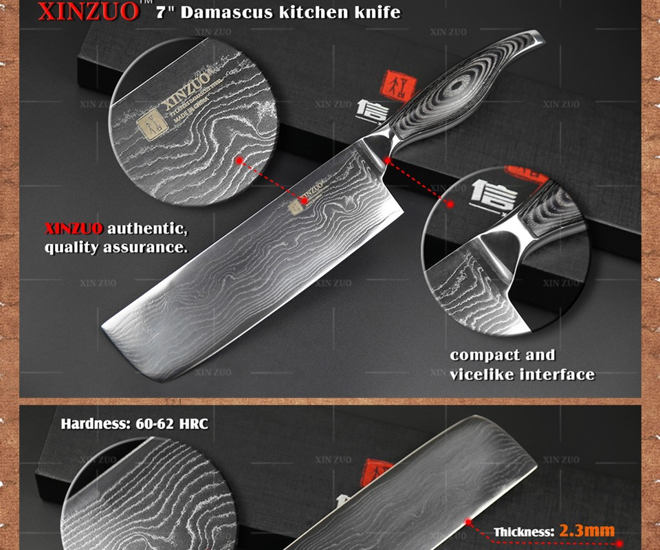 "Buy 7"" inches women kicthen knife High quality 73 layers Japanese VG10 Damascus steel kitchen chef knife sharp handle free shipping cheap"