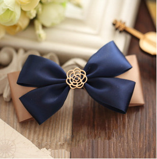 Big Hair Bows Baby Hair Clips Cute Hair bows Infant Flower Clip Hairpin Bow Tie Ribbon Hairgrips Prom Boutique 1PC Free Shipping(China (Mainland))