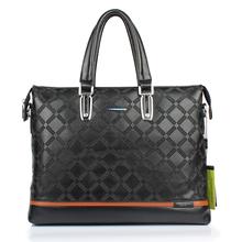 Men's leather big Briefcase Business men Shoulder Bags horizontal handbags tote Bag for Man laptop computer handbag 1S7084(China (Mainland))