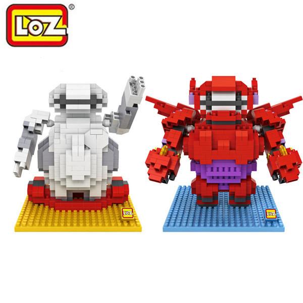 New! Big Hero 6 Figure LOZ nano blocks New Arrivals Baymax Diamond Building Blocks Mini DIY Bricks Model Toy Brinquedos Meninos(China (Mainland))