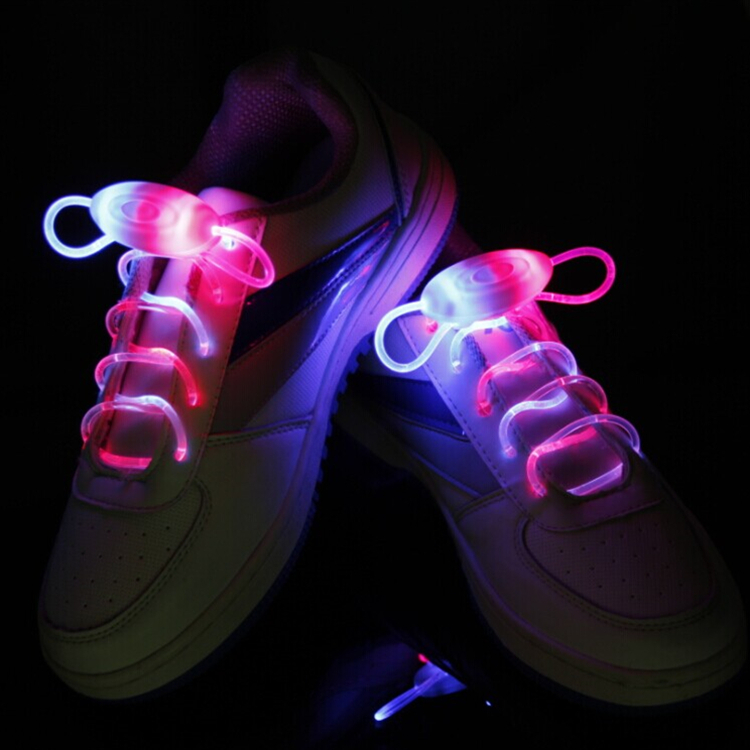 New 1 Pair Led Light Shoelace Glow Stick Flashing Colored Neon Shoelace 7 Color(China (Mainland))