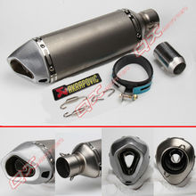 Universal Motorcycle Modified Scooter Akrapovic yoshimura Exhaust Muffle pipe GY6 CBR CBR125 CBR250 CB400 CB600 YZF FZ400 Z750