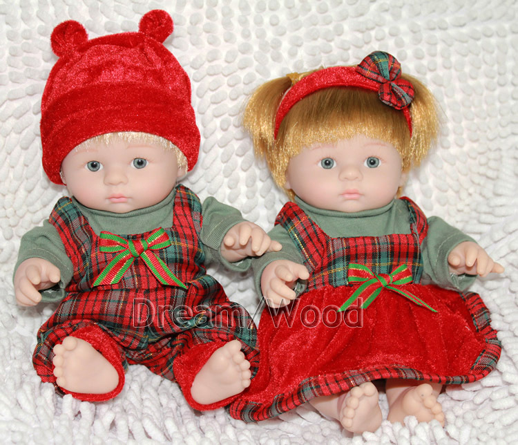 Christmas gift 25cm super cute mini baby doll simulation silicone doll girl toy lovers<br><br>Aliexpress