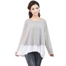 Cotton Breast Feeding Nursing Tops Tees Mothers Lace Clothes For Pregnant Women Maternity Wear Shirt Clothing Ropa Embarazada(China (Mainland))