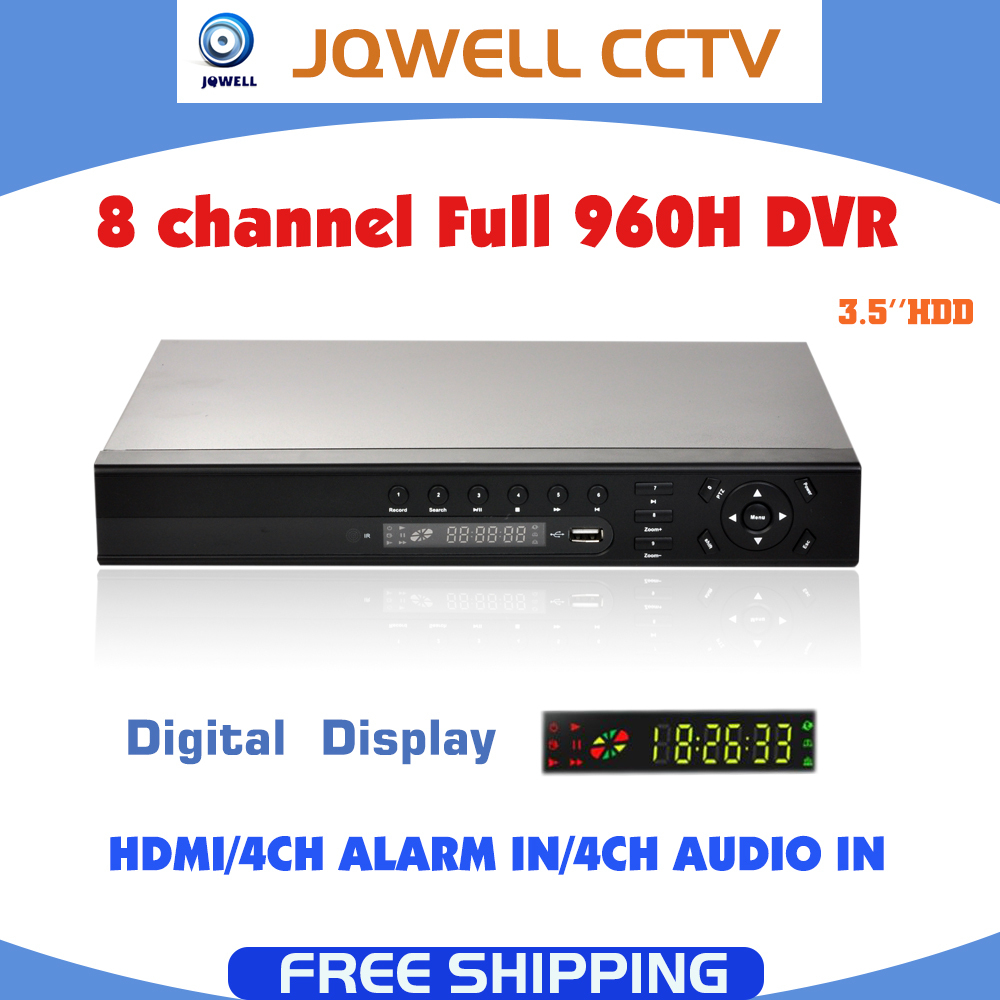 CCTV 8CHS 960H DVR 8 channel HDMI support 3G WIFI ONVIF P2P Cloud Network video recorder H.264 Security Standalone DVR