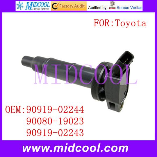 Новый катушка зажигания использования OE no. 90919 - 02244, 90080 - 19023, 90919 - 02243 для Toyota Camry венчик горец матрица RAV4 Solara