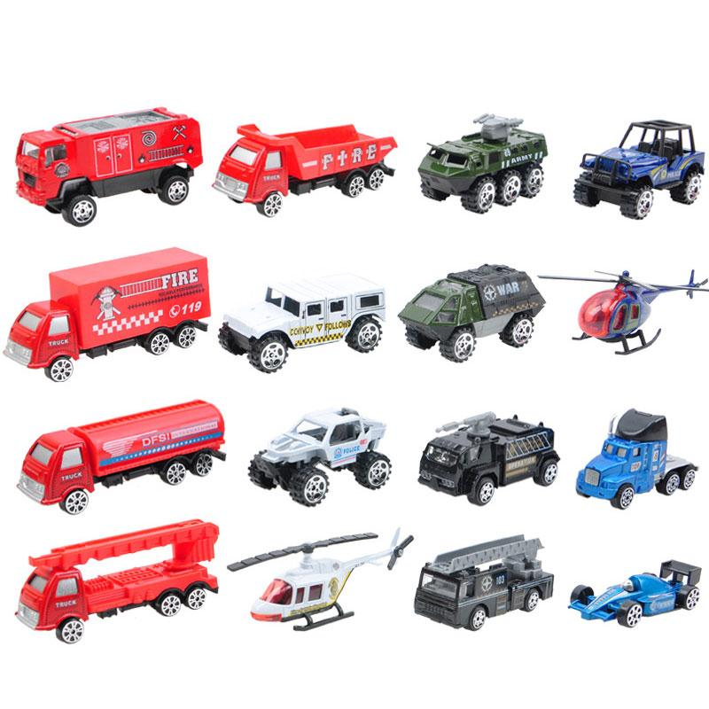 Peradix 16PCS Metal Car Mode Antique Collectible Toy Cars Airplane Helicopter Truck Collection Miniatures Scale Cars Models(China (Mainland))