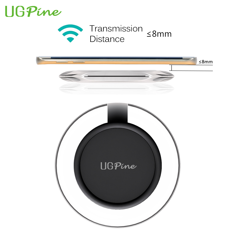 Wireless Charger UGPine Qi Standard Wireless Charging Pad for Samsung Galaxy S6 S6edge S6 edge plus Note 5, Note 4, Nexus 6 5(China (Mainland))