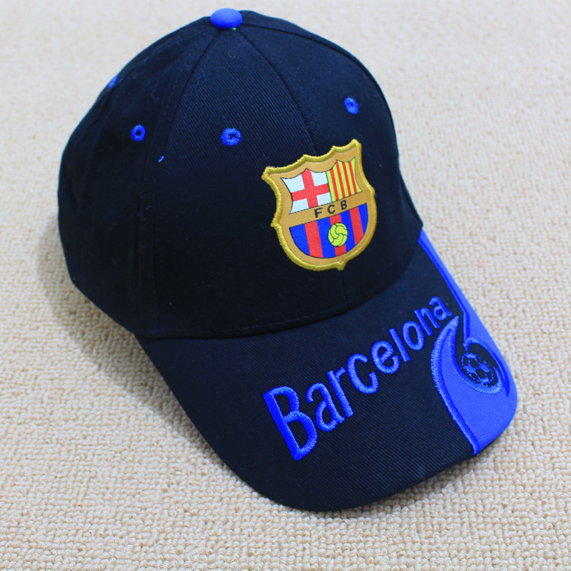 2017 New Football Barca Club Hat Visors Embroidery Snapback Cap Soccer Hat for Women and men Unisex Cotton Letter Novelty hats(China (Mainland))