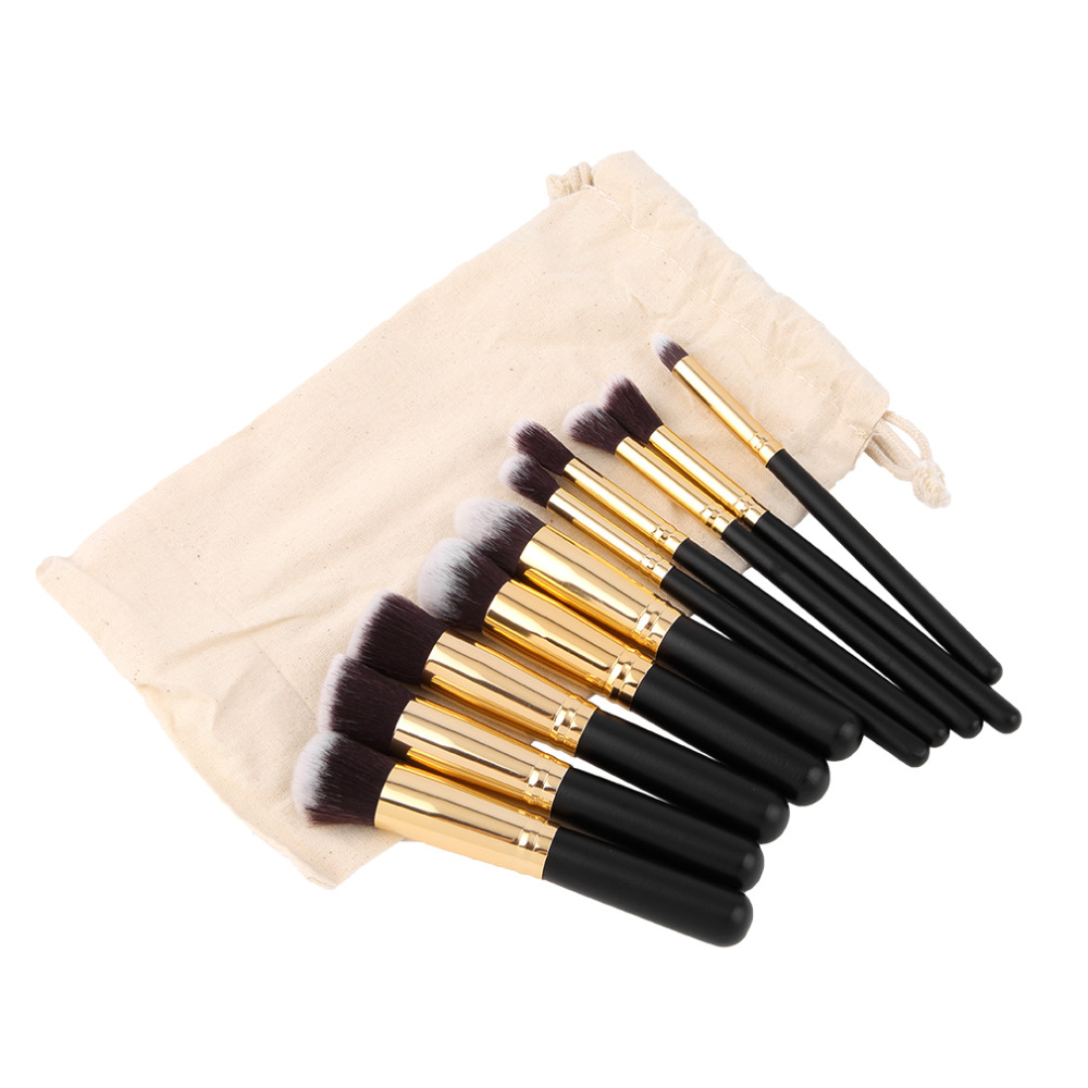 10 Pcs Professional Makeup Brushes Set Make up Brushes Cosmetic ...