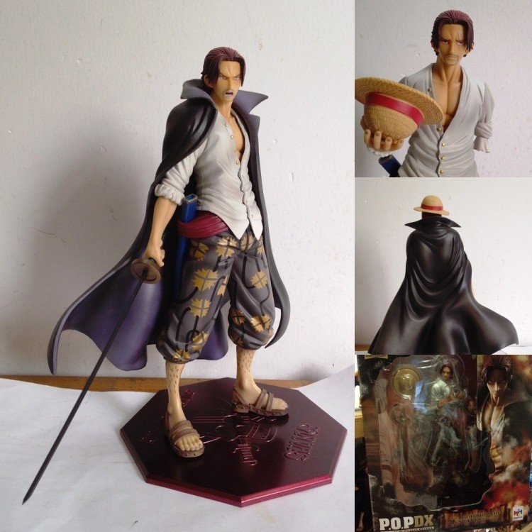 birthday gift Megahouse One Piece SHANKS LE ROUX POP NEO-DX Red Haired Shanks 1/8(China (Mainland))