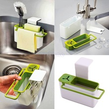Suction Cup Base Kitchen Brush Sponge Sink Draining Towel Rack Free shipping(China (Mainland))