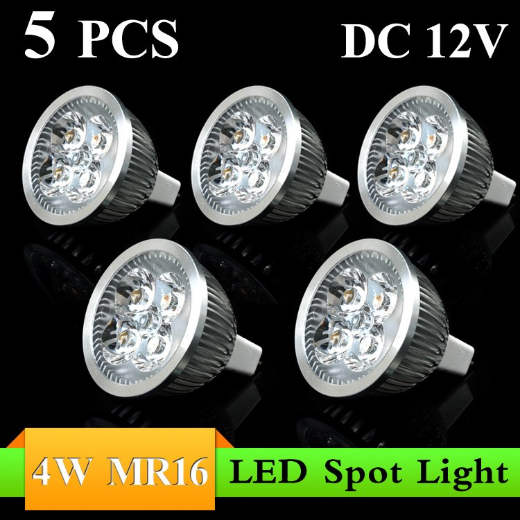 5PCS 4W MR16 DC12V white/warm white  LED Bulb Light Spot Light  LED Light Lamp with 5years Warranty---------Limited Time Offer<br><br>Aliexpress