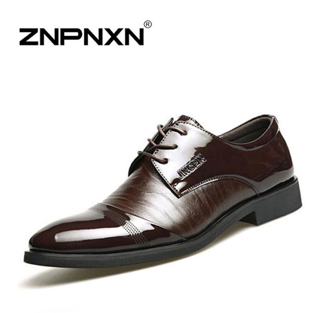 ZNPNXN 2016 оксфорд обувь для мужчин Мода Мужчины в Кожаном Платье обувь Весна Осень ...