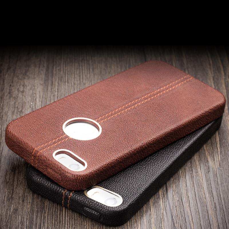 Qialino Luxury Genuine Cow leather case for iPhone 5 5s mobile phone pouch protective shell Unique back cover