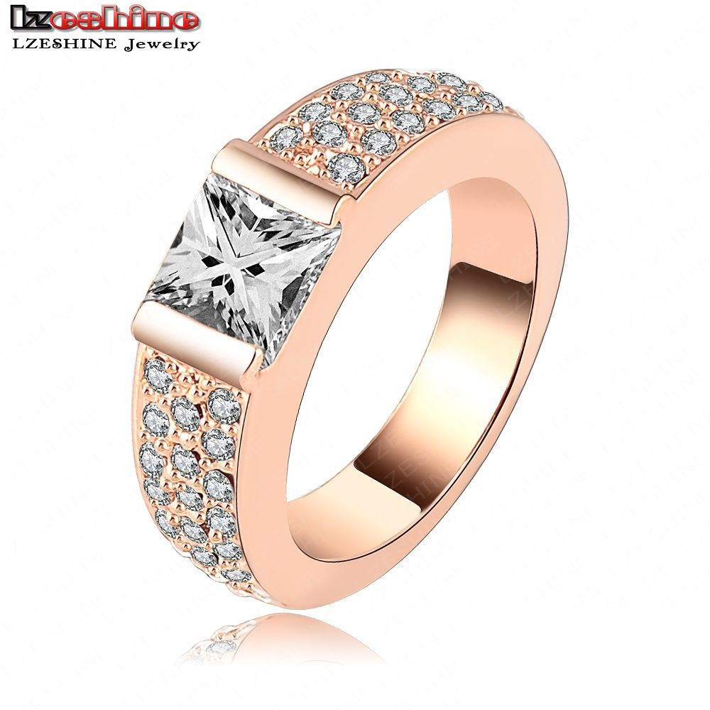 new arrival simple style ring cz ring fashion 18k