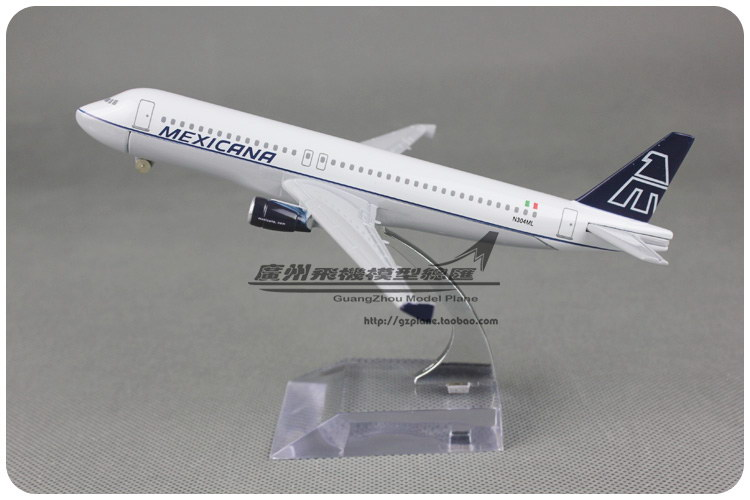 16cm Air MEXICANA Airlines Plane Model Airbus A320 Alloy Metal Airplane Model Kids Toy Gift Collections Free Shipping(China (Mainland))
