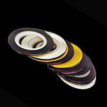 Nova chegada 2015 profissão 10 Pcs cores misturadas Rolls Striping linha Tape DIY Nail Art Tips decoração adesivo