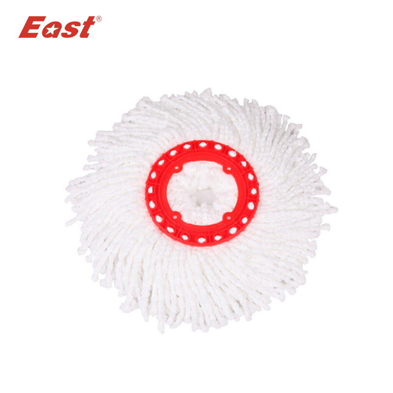EAST 360 spin mop head for High quality Magic Spin Mop Bucket No Foot Pedal Rotate 360 Degree with 2 heads cleaning tools(China (Mainland))
