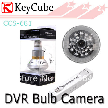Night Vision Bulb CCTV Security DVR Camera Video Recorder Motion detection E27 Screw Support to 32GB Free Shipping
