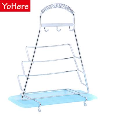 YoHere multifunction stainless steel pot lid storage holder drain rack creative shelf for kitchens(China (Mainland))
