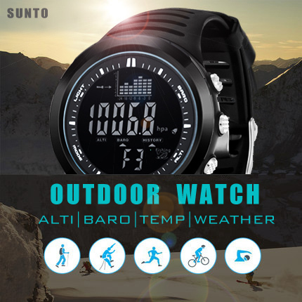 SUNTO original brand digital watches Men Women hours watch men's outdoor clock fishing weather altimeter barometer thermometer(China (Mainland))