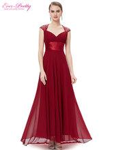 Evening Dresses Fast Shipping HE09672 Ever Pretty V-neck Empire Chiffon Sexy Long 2016 Vestidos Longo Party Evening Elegant(China (Mainland))