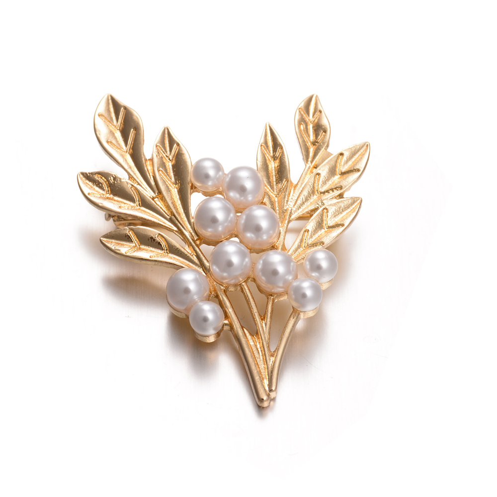 Women simulated pearl brooch jewelry for decorations dress for Decor jewelry