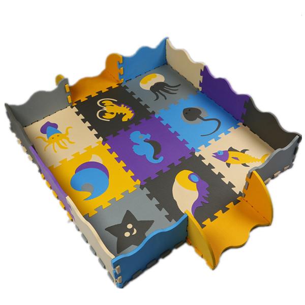 25pcs/set EVA Foam Play Mat Baby Puzzle Floor Mats Fences Carpet Pad Toys For Children Environmental 30*30*1cm(China (Mainland))