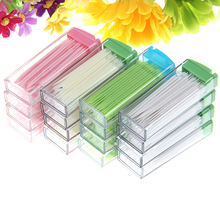Hot Sale Portable Plastic Toothpick 50 Pack Boxed Green No Smell Oral Dental Picks 7JRY(China (Mainland))