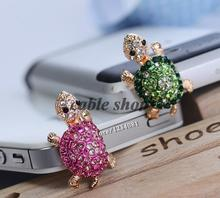 2015 free shipping  For all 3.5MM headphone port dust plug Cute turtle shape