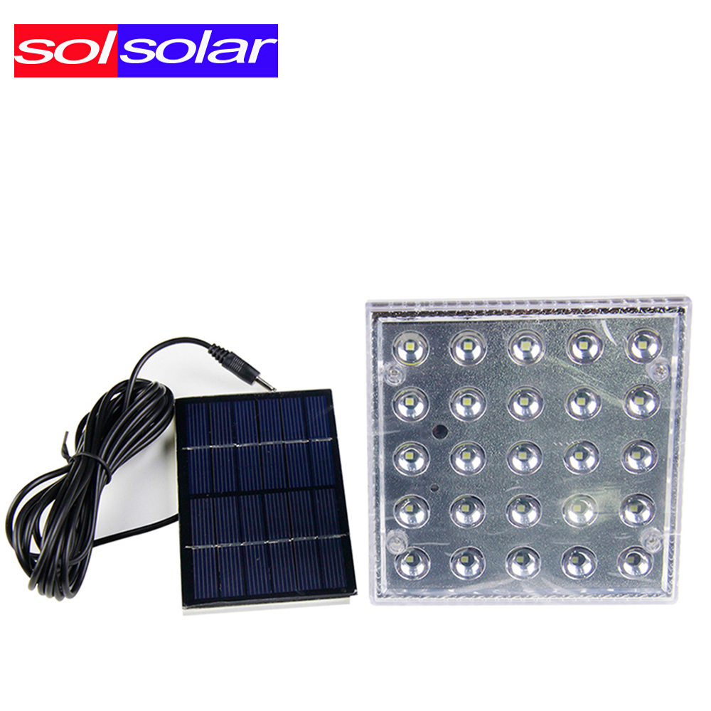 25pcs 3528 Portable Solar Lighting System Led Powered Light Work Time 7 Hours Solar Rechargeable Energy Led Bulb(China (Mainland))