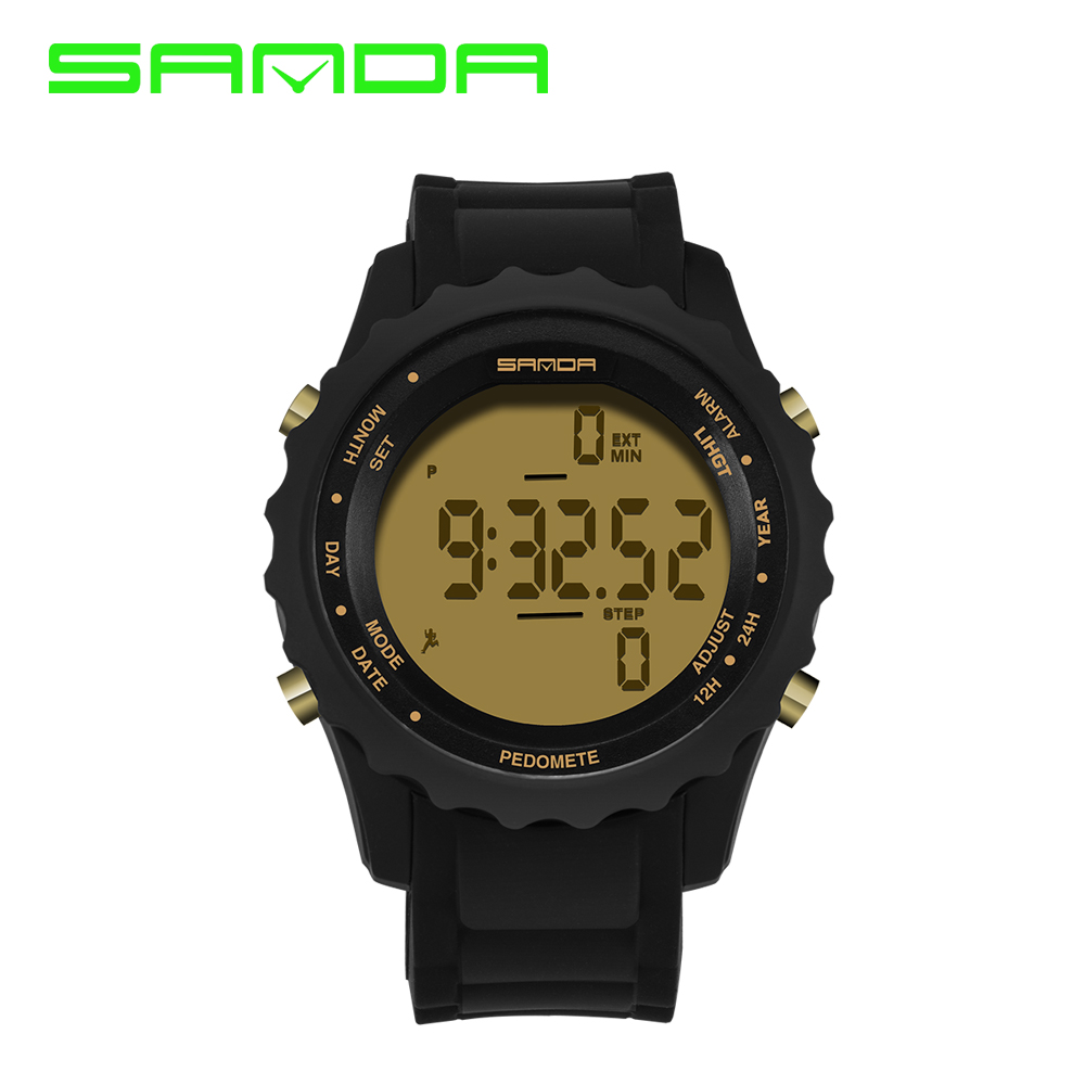 Sanda Lover Luxury Brand Men Sports Watches Watch Women Casual LED Digital Multifunctional Wristwatch Pedometer reloj hombre(China (Mainland))