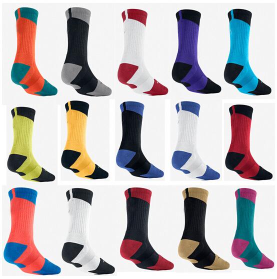 2015 New custom elite socks men basketball Socks Dri-FIT Crew sport socks jordan elite sock deodorant for men Dropshipping(China (Mainland))
