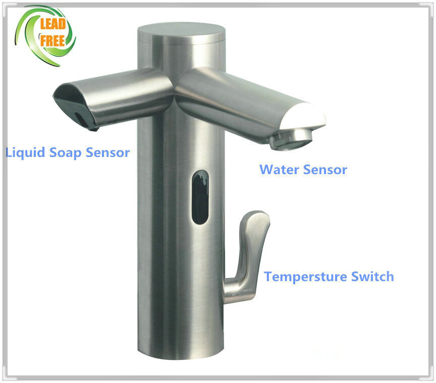 Automatic Touchless Faucet Sensor Faucet With Foam Soap Dispenser Sensor Faucet Dispenser For