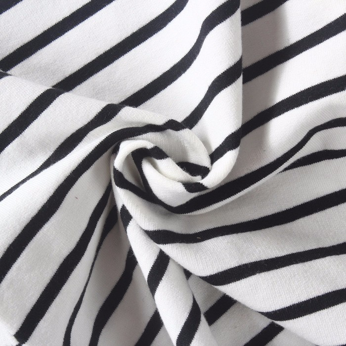 Autumn Winter Baby Girls Long Striped Dress Shirt Suit Mother Daughter Kids Striped Dress Wtih Velvet Black White Newborn 9M-3T (9)