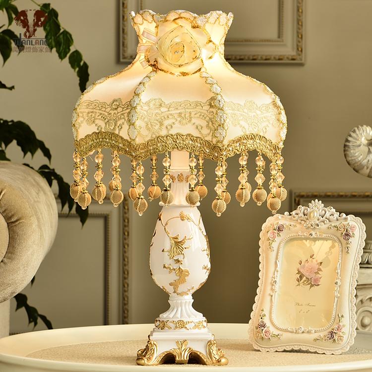 W28cm*H51cm110v220v e27 fashion table lamp luxury bedroom lamp bed-lighting table lamp for bar, living room, abajur para quarto(China (Mainland))