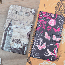For Lenovo A916 Cute Printing Pattern PU Leather Flip Stander Case Wallet Cover For A 916 Phone Bags With Card Holder And Slots