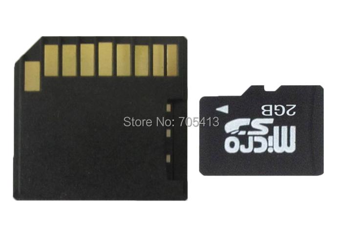 MicroSD Card 2GB TF flash card with free Black Short SD CARD Adapter(China (Mainland))