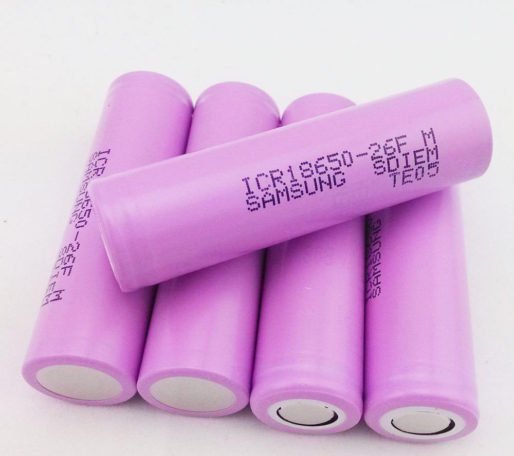 40 unids S amsung nuevo 100% Original 18650 ICR18650-26F M 2600 mAh Li ion 3.7 V For Lptop + compras libres(China (Mainland))