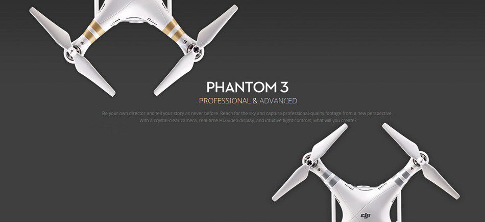 Original Dji phantom 3 professional Drone RTF with 4K Full HD wifi camera & Brushless Gimble & GPS system & live HD view