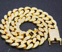 2cm HipHop זהב צבע אייס מתוך קריסטל מיאמי קובני שרשרת זהב כסף שרשרת & צמיד סט מכירה לוהטת את HIPHOP מלך(China)
