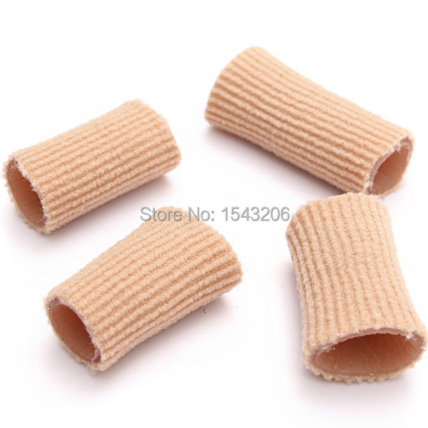 Breathable Fiber Gel Finger Toe Protector Fully Lined Ribbed Tube Cushion Calluses Corns Pressure Friction Pain Relieve(China (Mainland))