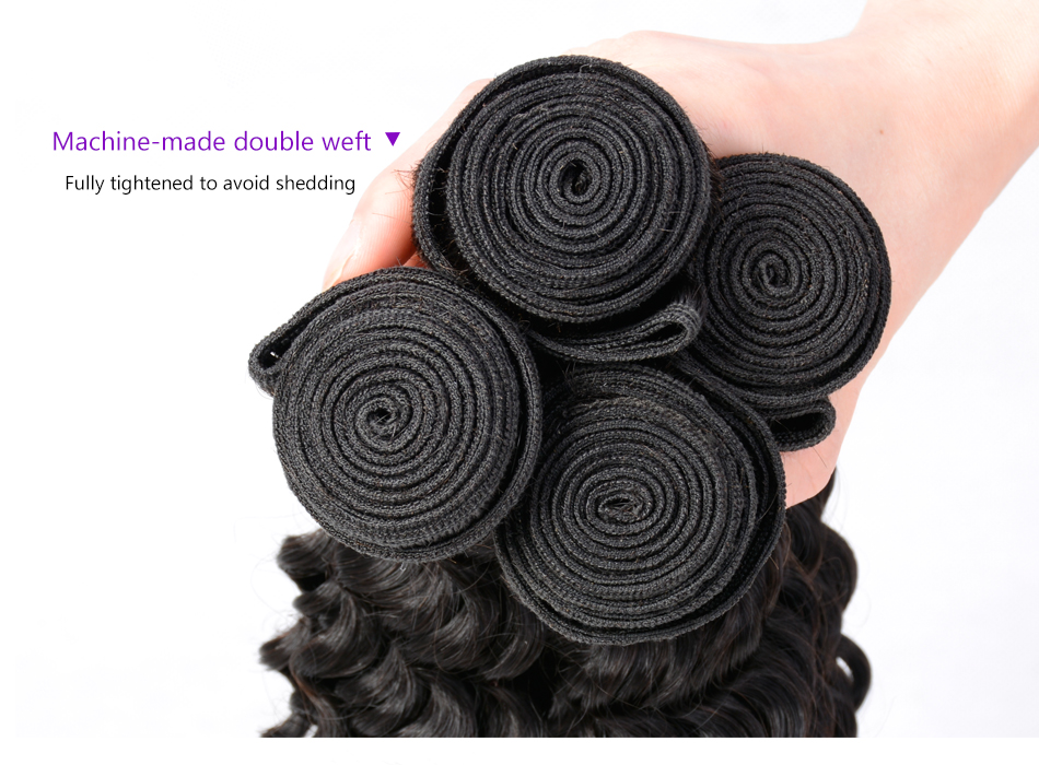 """Iwish Brazilian Curly Hair 1 Piece Natural Black Color 100% Human Hair Weave Bundles Remy Hair Extension 10-28"""" Free Shipping"""