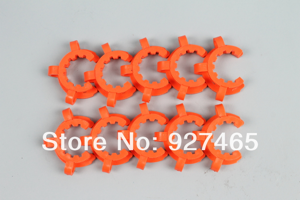 10 pcs Plastic Ground Joint Clip/ Joint Clamp for 34/45 Standard Taper Joints(China (Mainland))