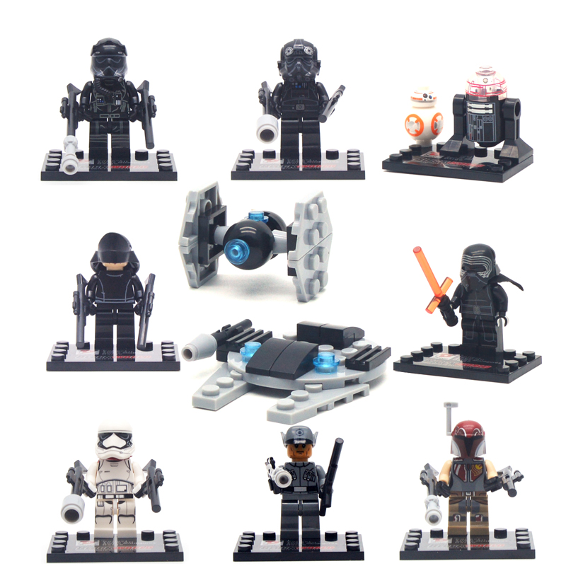 8pcs/lot Star Wars The Force Awakens movie Star War Kid Toy Spaceship Mini Figure Building Block Sets Model ToyMinifigures Brick