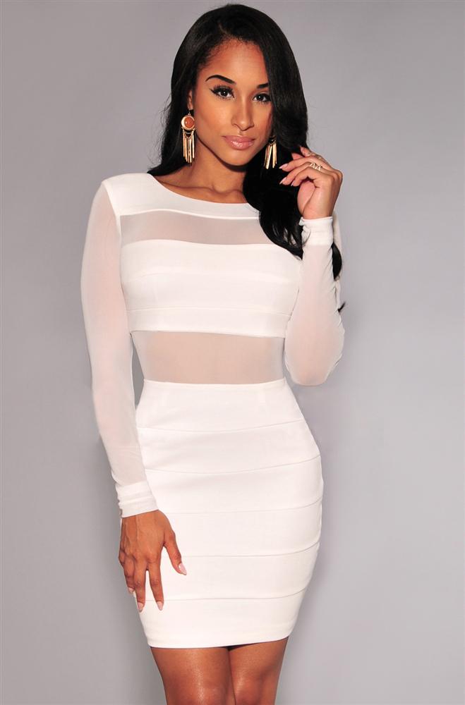 3a94642a38c White Bandage Dress – Fashion dresses