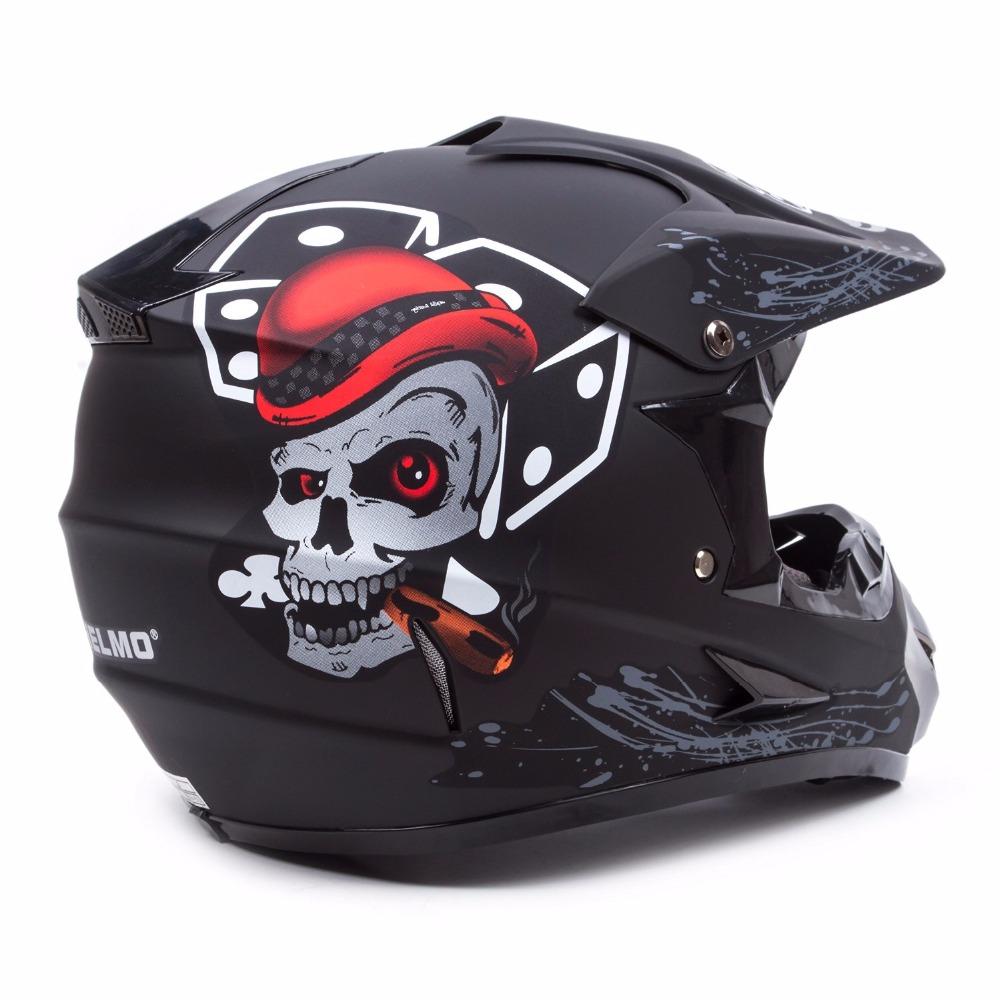 High Quality Motocross Off Road Helmet Bike Downhill Racing Adult Helmet New Cool Skull Motorcycle Helmets for Dirt Bike(China (Mainland))