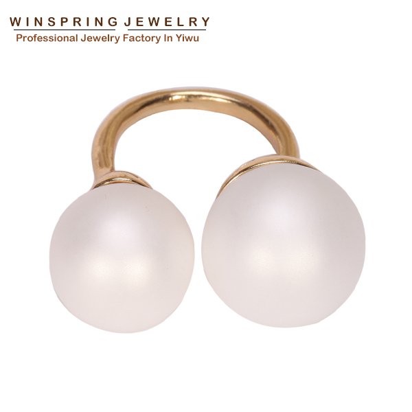 Aliexpress Top Quality Ring For Women Pearl Rings White Discount Ring Fashion Gold Plated Ring Aliexpress HOT Free Shipping(China (Mainland))